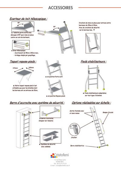Echelle com page du catalogue des vraies chelles et chafaudage - Fabriquer une echelle de toit ...