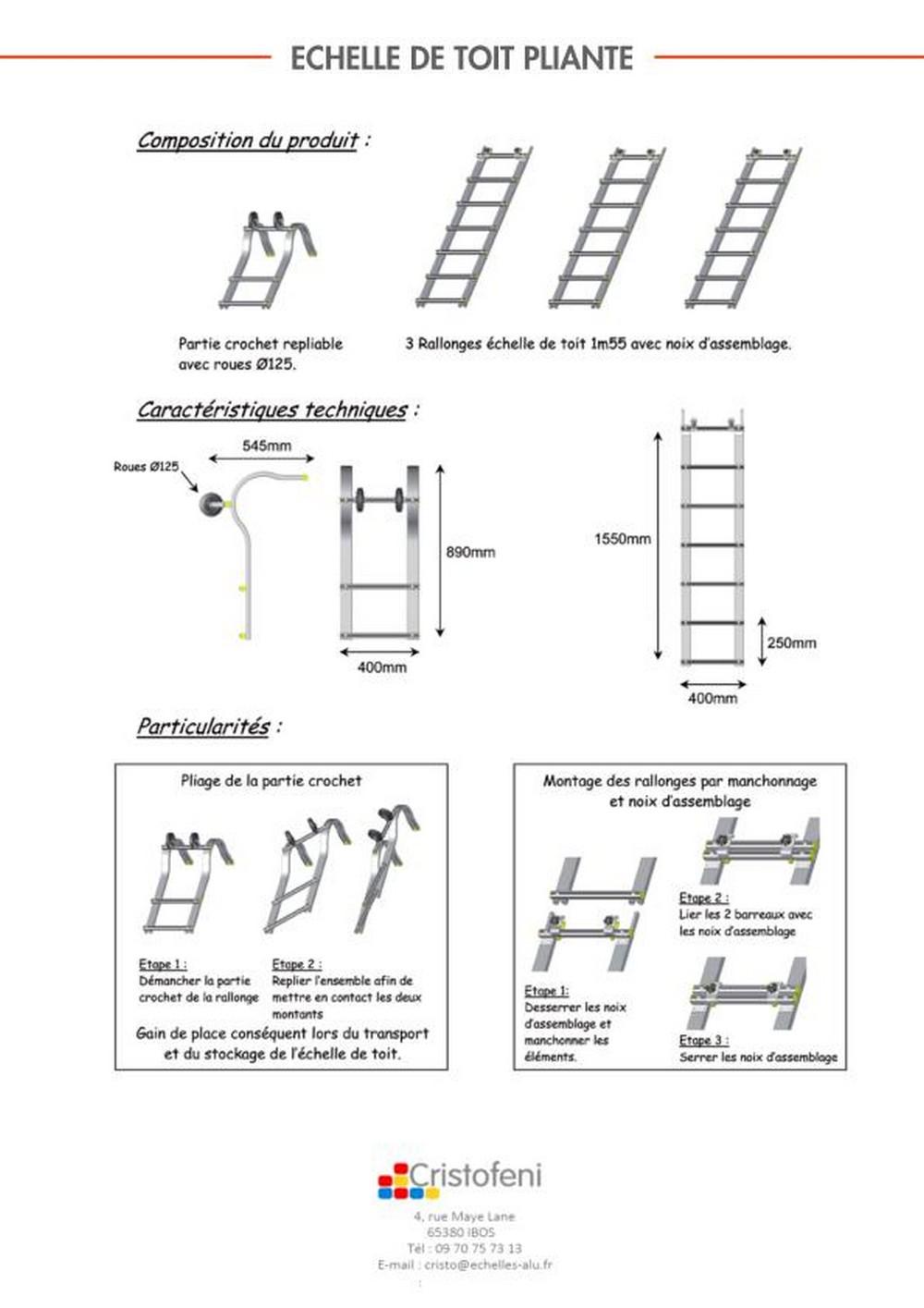 Echelle Alu Cool Chelle En Aluminium Marches Hauteur Maxi M Mac