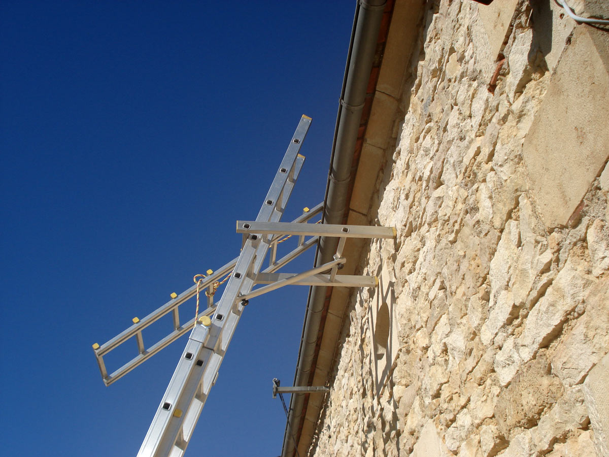 photo 10, échelle de toit, échelle de couvreur, échelle de toiture, échelle pour toiture